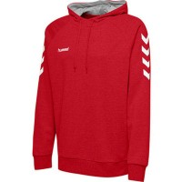 Hummel Go Cotton Kapuzenpullover true red Herren