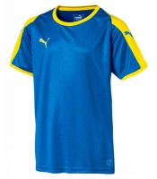 Puma LIGA Jr Trikot electric blue-yellow Kinder