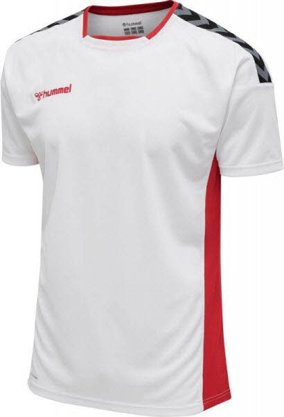 Hummel Authentic Poly Trikot WHITE-TRUE RED Herren - Bild 1