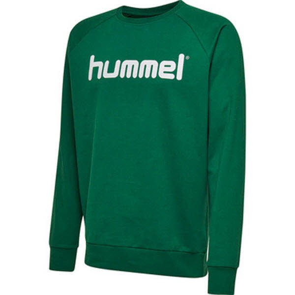 Hummel Go Cotton Logo Sweatshirt evergreen Kinder - Bild 1