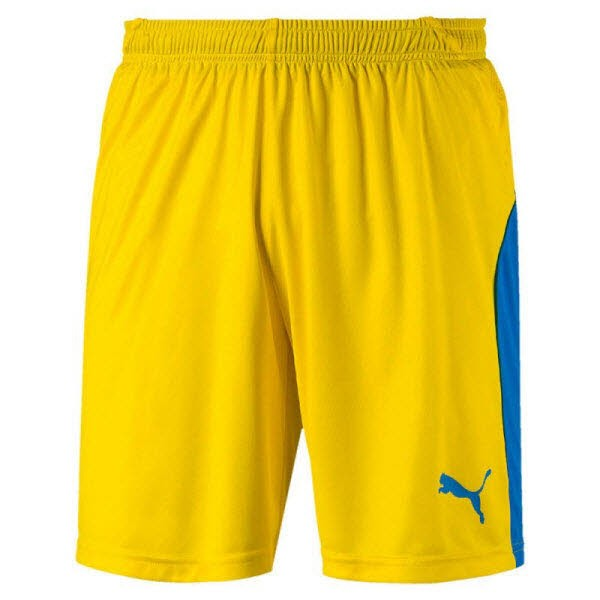 Puma LIGA Shorts cyber yellow-blue Herren