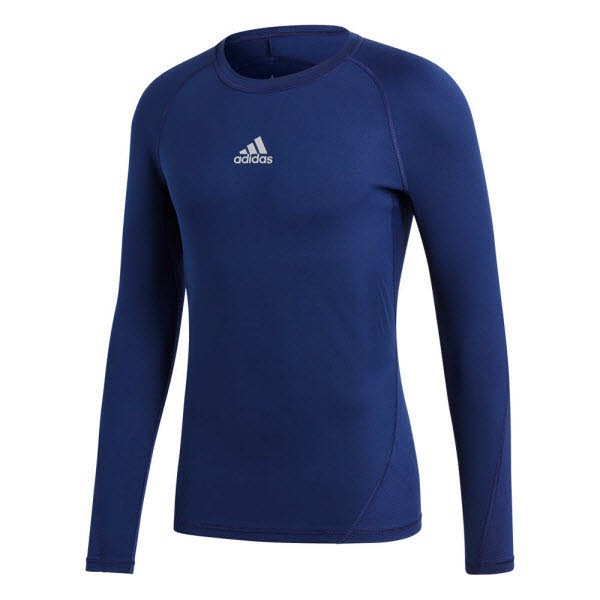 adidas Alphaskin Shirt Langarm dark blue Kinder - Bild 1