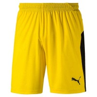 Puma LIGA Jr Shorts cyber yellow-black Kinder