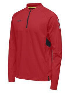 Hummel Tech Move Half Zip Sweatshirt TRUE RED Herren - Bild 1