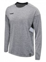 Hummel Tech MoveTrikot langarm Kinder GREY MELANGE Kinder