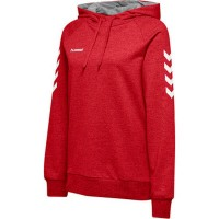 Hummel Go Cotton Kapuzenpullover true red Damen
