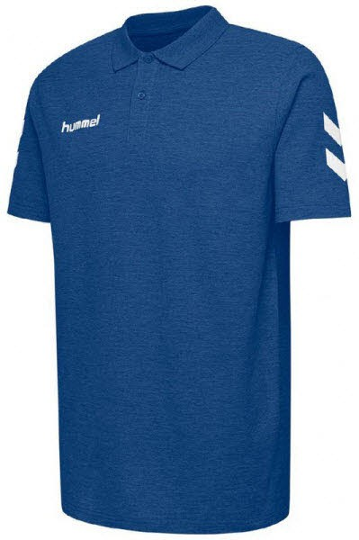 Hummel Go Cotton Polo-Shirt true blue - Bild 1