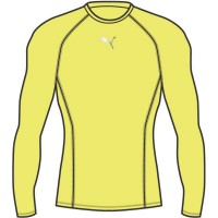 Puma LIGA Baselayer LS Funktionshirt fizzy yellow Herren