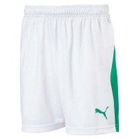 Puma LIGA Jr Shorts puma white-green Kinder