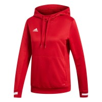 adidas Team 19 Kapuzenpullover power red-white Damen