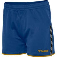Hummel Authentic Poly Shorts blue-yellow Damen