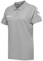 Hummel Go Cotton Polo-Shirt grey melange Damen