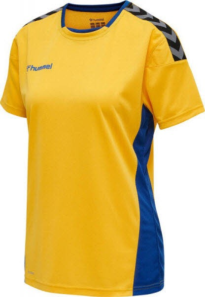 Hummel Authentic Poly Trikot yellow-blue Damen - Bild 1