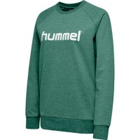Hummel Go Cotton Logo Sweatshirt evergreen Damen