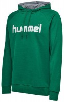 Hummel Go Cotton Logo Kapuzenpullover evergreen Kinder