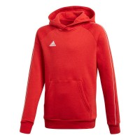 adidas Core 18 Kapuzenpullover power red-white Kinder
