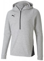 Puma teamFINAL 21 Casuals Hoody LIGHT GRAY HEATHER Herren