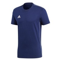 adidas Core 18 T-Shirt dark blue-white Herren