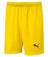 Puma LIGA Shorts Core Jr cyber yellow-black Kinder
