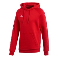 adidas Core 18 Kapuzenpullover power red-white Herren