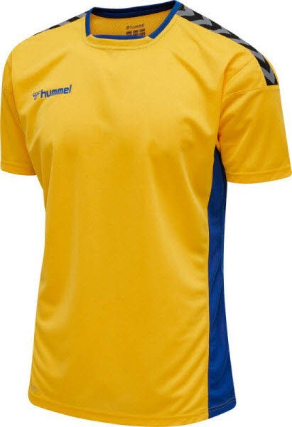 Hummel Authentic Poly Trikot SPORTS YELLOW- BLUE Herren - Bild 1