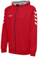 Hummel Go Cotton Kapuzenjacke true red Kinder