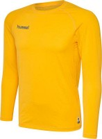 Hummel First Funktionsshirt Langarm sports yellow Herren