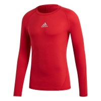 adidas Alphaskin Shirt Langarm power red Kinder