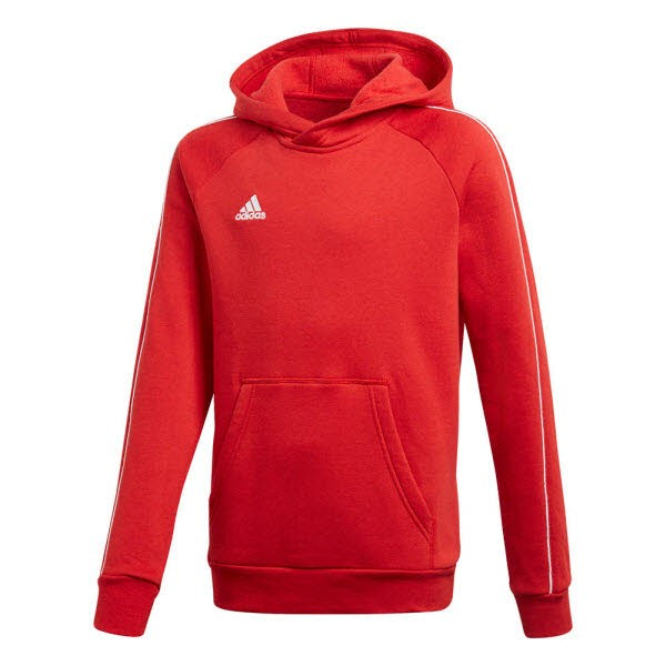 adidas Core 18 Kapuzenpullover power red-white Kinder - Bild 1
