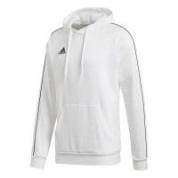 adidas Core 18 Kapuzenpullover white-black Kinder