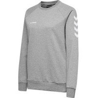Hummel Go Cotton Sweatshirt grey melange Damen