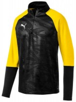 Puma CUP Training Jr 1/4 Zip Top Core puma black-yellow Kinder