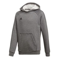 adidas Core 18 Kapuzenpullover dark grey-black Kinder