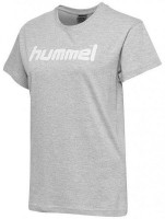 Hummel Go Cotton Logo T-Shirt grey melange Damen