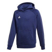 adidas Core 18 Kapuzenpullover dark blue-white Kinder
