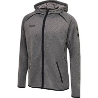 Hummel Authentic Pro Kapuzenjacke GREY MELANGE Herren