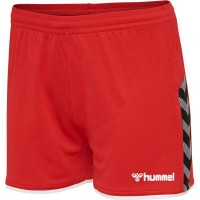 Hummel Authentic Poly Shorts true red Damen