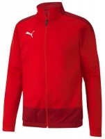 Puma teamGOAL 23 Sideline Poly Jacke Jr puma red-white Kinder