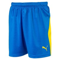 Puma LIGA Jr Shorts electric blue-yellow Kinder
