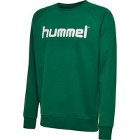 Hummel Go Cotton Logo Sweatshirt evergreen Kinder