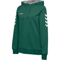 Hummel Go Cotton Kapuzenpullover evergreen Damen