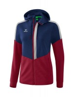 Erima Squad Trainingsjacke mit Kapuze new navy-bordeaux Damen