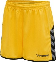 Hummel Authentic Poly Shorts yellow-black Damen