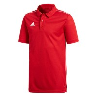 adidas Core 18 Poloshirt power red-white Kinder