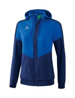 Erima Squad Tracktop Jacke mit Kapuze new royal-new navy Damen