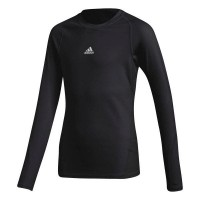 adidas Alphaskin Shirt Langarm black Kinder