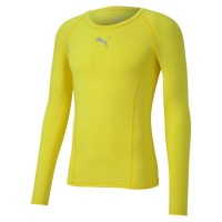 Puma LIGA Baselayer LS Funktionshirt fluo yellow Herren