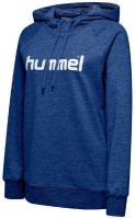 Hummel Go Cotton Logo Kapuzenpullover true blue Damen