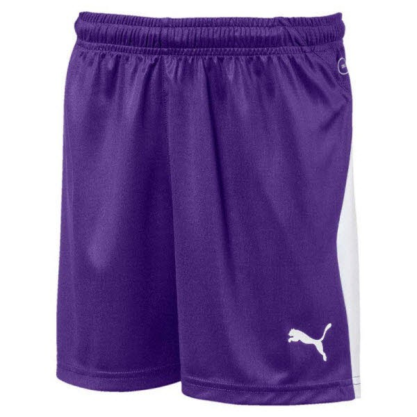 Puma LIGA Jr Shorts prism violet-white Kinder