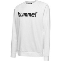 Hummel Go Cotton Logo Sweatshirt white Kinder
